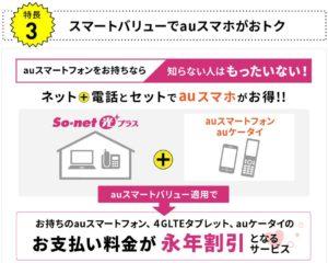 So-net 光プラス auスマートバリュー