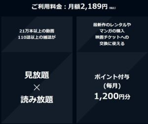 U-NEXT:料金