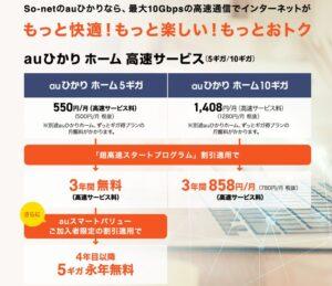 So-net 光 (auひかり):5G・10G